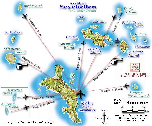 Karte Seychellen.Gellwien Tours Karte Seychellen Archipel