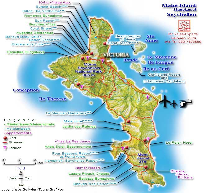 Karte Seychellen.Gellwien Tours Seychellen Karte Mahe Lage Hotels